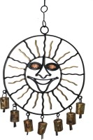 Boxmywish Smiley Sun Iron, Brass Windchime