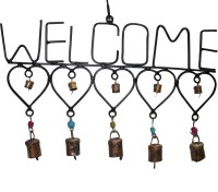 Boxmywish Welcome Iron, Brass Windchime