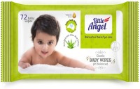 LITTLE ANGEL Gentle Baby Wipes Pack Of 2 (72 Pieces)