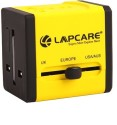 Lapcare Worldwide Adapter With Dual USB Port Worldwide Adaptor (Yellow)