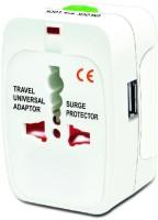 Goodbuy Multiplug With USB Worldwide Adaptor White