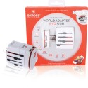 S-Kross Travel 2-Pole With Dual Usb Charger White Worldwide Adaptor (WHITE)
