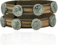 Alphaman A Set Of Screw Driver Leather Bracelet
