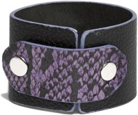 Fume Leather Black 120 Men, Women Wrist Band (Black, Purple, Pack Of 1)