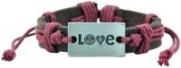 Alphaman All Things Grow Better With Love Men Wrist Band Maroon, Pack Of 1