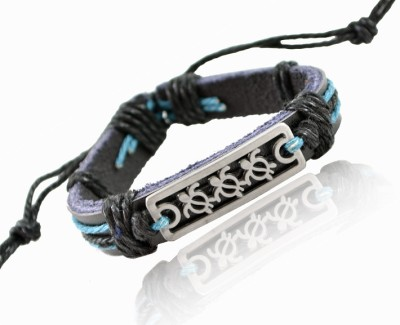 Alphaman Slow and Steady Wins the Race Men, Boys Wrist Band Blue, Pack of 1 available at Flipkart for Rs.299
