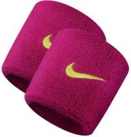 Nike Swoosh Fireberry & Green Men, Women Wrist Band Fireberry, Green, Pack Of 2