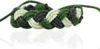 Alphaman Go Green India Men Wrist Band Green, Pack Of 1