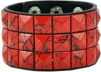 Alphaman Red For Love Men Wrist Band (RED, Pack Of 1)