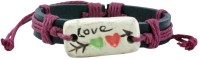 Alphaman A Special Kinda Love Men Wrist Band (Black, Pink, Pack Of 1)