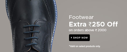 Footwear : Extra Rs. 250 Off on orders above Rs. 2000