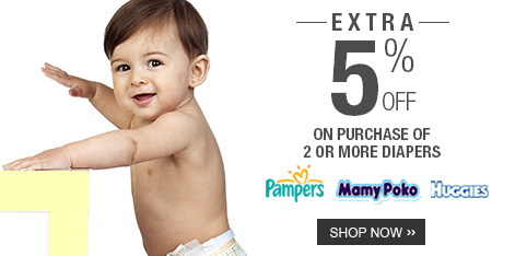 Diapers - Extra 5% Off