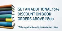 Get an additional 10% discount on book orders above Rs. 800