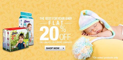 Libero diapers - Flat 20% off