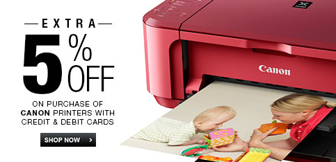 Canon Printer - Extra 5% off on Credit & Debit Cards