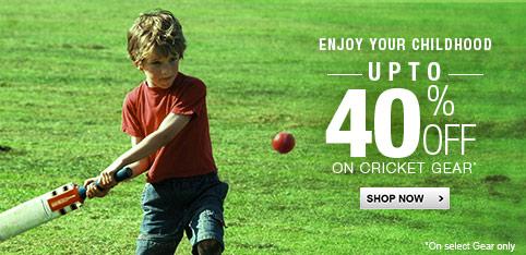 Cricket - Upto 40% Off
