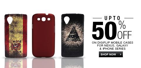 DigiFlip Mobile Cases - Upto 50% off