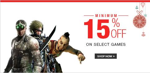 Games - Minimum 15% off