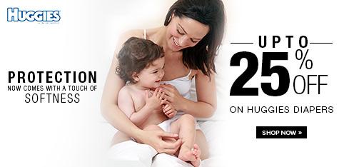 Huggies Diapers-  Upto 25% Off