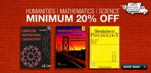 Minimum 20% off on  Humanities, Mathematics & Science Books