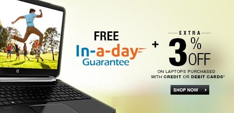 Select Laptops - Free In-A-Day Guarantee