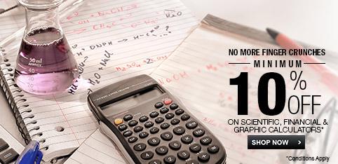calculator - Minimum 10% Off