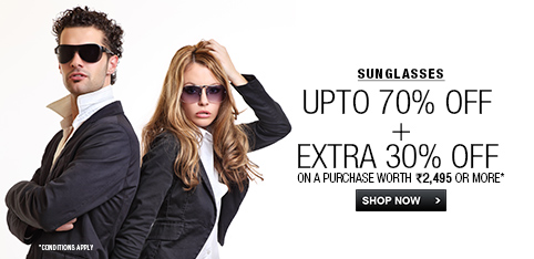 Sunglasses - Up to 70% + Extra 30% Off