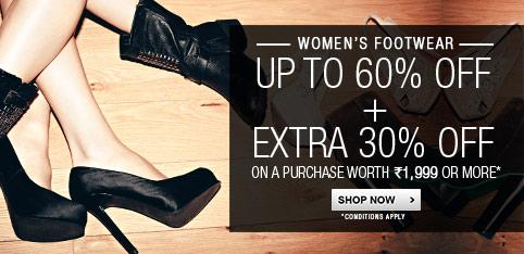 Women's Footwear - Upto 60%+ Extra 30% Off