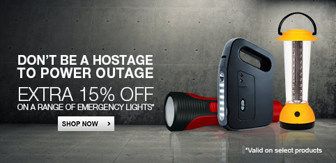 flipkart:  Emergency Lights – Extra 15% off