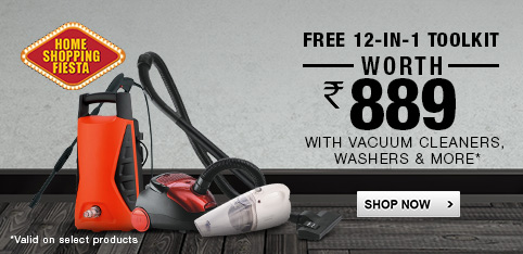 Vacuum Cleaners- Free 12-in-1 toolkit
