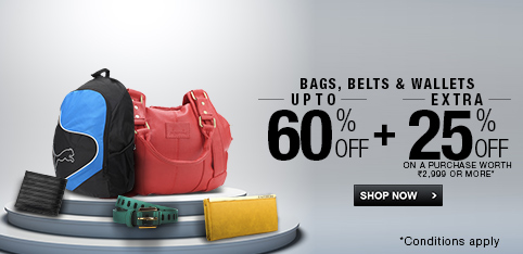 Fashion Accessories - Upto 60% + Extra 25% off