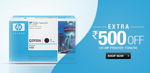 HP Toners - Extra Rs. 500 Off