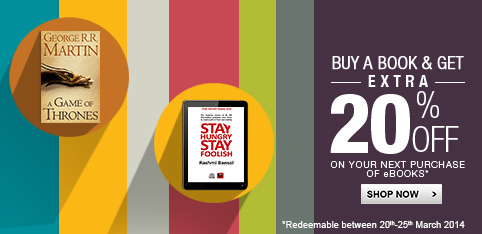 Buy a Book & Get extra 20% off on next eBook  purchase