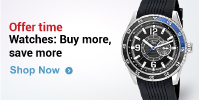 Buy Watches worth 1999 or more - get 15% off, 2999 or more - get 20% off & 4999 or more - get 25%