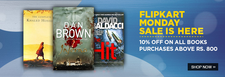 Flipkart Monday Sale : 10% Off on Books