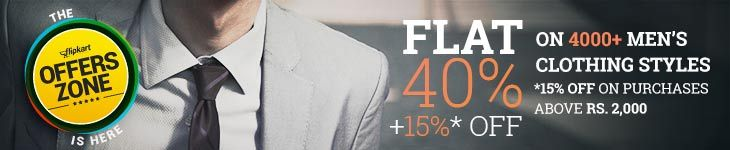 Flat 40% off + 15% off on purchases above 2000