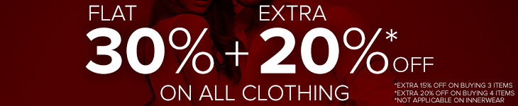 Flat 30% of on Men and Women Clothing
