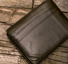 Buy Stylish Armani Leather Wallets Silver Colour For Men online