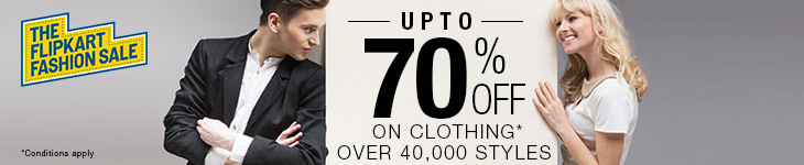 Flipkart Weekend Fashion Sale - UPTO 75% OFF + UPTO 30 % OFF On Footwear, Clothing, Watches & More From Flipkart.com 1