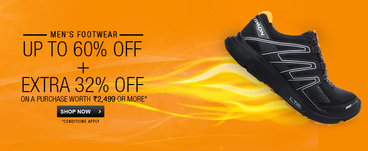 Men's Footwear Upto 60%+Extra 32% Off