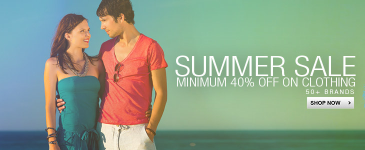 Summer Sale minimum 40% off on clothing