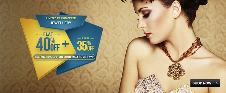 ewellery - FLAT 40% + EXTRA 35% OFF Shop for Rs.799 or more and get EXTRA 35% OFF