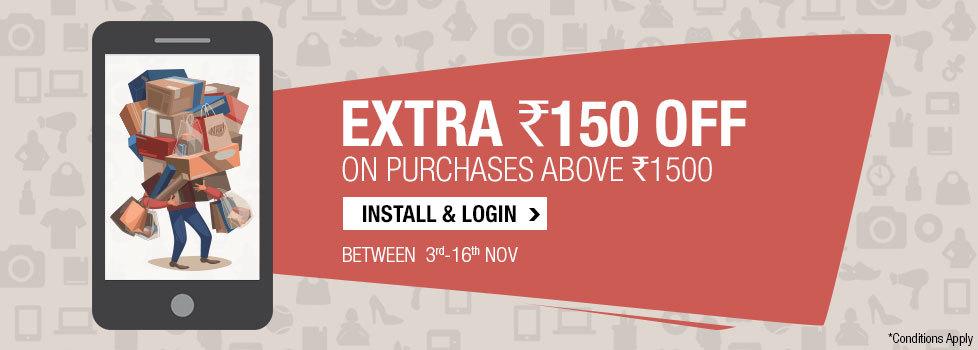 Extra Rs. 150 Off on App on 1500: Flipkart