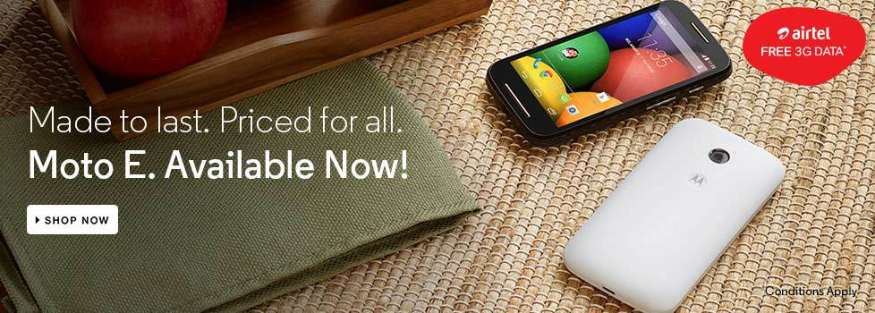 Moto E, Available Now