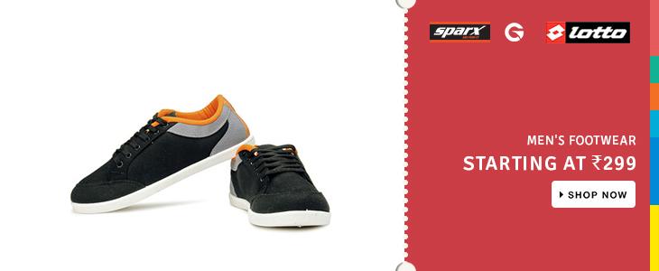 Men's Footwear Starting at 299/-