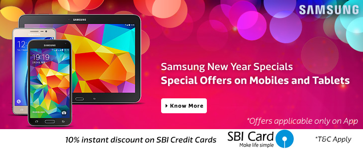 Samsung Mobiles Extra 10% OFF on SBI Credit Cards at Flipkart App