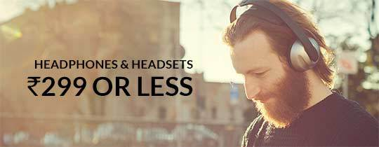 Deals | Headphones & Headsets - Rs.299 Or Less