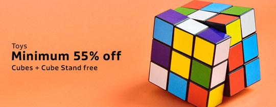 Deals | Flipkart - Cubes + Cubes Stand free - Minimum 55%