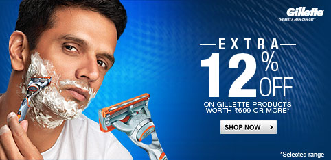 Deals | extra 12% off on Gillete products worth Rs 699 or more