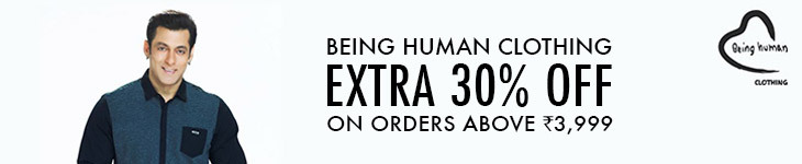 Deals | Being Human clothing extra 30% off on orders above